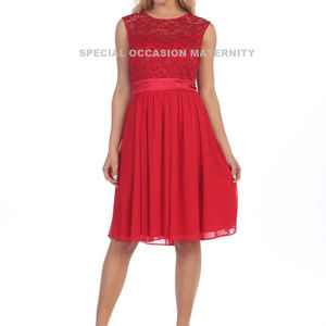 New Misses Cocktail Lace Chiffon Formal Dress S/S